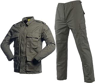 Men's Tactical BDU Uniform Combat Suit Military Jacket Coat and Pants Set