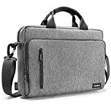 tomtoc 15,6' Bolso Portátil de Hombro, Bolso Bandolera Briefcase Multifuncional para 16' MacBook Pro 2019, 15' MacBook Pro, DELL XPS 15, Surface Book 2, Ultrabooks, Chromebooks, Notebooks, Gris