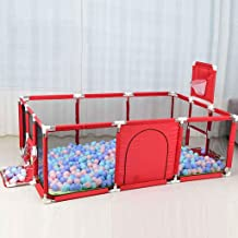 Baby Box Omheining met Basketball Hoop, Grote ritssluiting Safety Play Area Gate for Baby Crawling