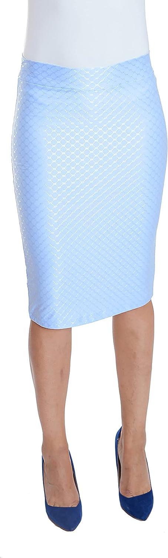 ESTEEZ Pencil Skirt for Women Stretchy Silky Figure Flattering Knee Skirt