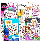 Disney Junior Tattoos Party Favor Set for Girls -- 100 Temporary Tattoos Featuring Minnie Mouse, Sofia The First, Finding Dory, Alice in Wonderland with Bonus Disney Princess Stickers