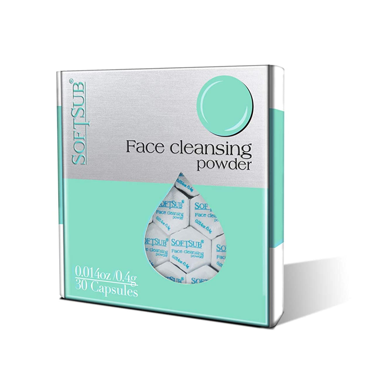 Face cleanser By Softsub Travel Packing Design with Organic & Natural Ingredients, Deep Cleansing & Exfoliation, Clear up Blemish & Pores, for Dry & Sensitive Skin - 30 Capsules-Natural Face Wash