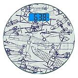 Escala digital de peso corporal de precisión Ronda Avión Báscula de baño de...