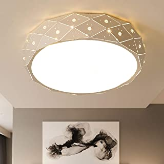 Ahisea LED Flush Mount Ceiling Light for Bedroom Living Room Indoor Lights 15W 12 Inch Hall Lighting Fixture 3 Colors Dimmable LED Ceiling Light (12
