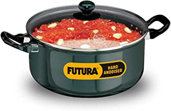 Hawkins Futura Hard Anodised Stewpot with Glass Lid, 5 Litres