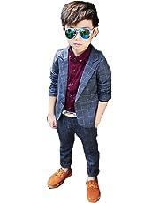140a210b860c6 男の子 スーツ 5点セット 子供服 男の子 フォーマル スーツセット グレー チェック柄  ジャケット