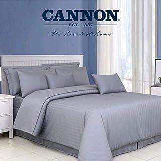 CANNON 400 Thread Count Cotton King Duvet Cover Set 4pcs, Luxury 100% Long Staple Cotton Bed Set King, Grey 4 Pcs Bedding ...