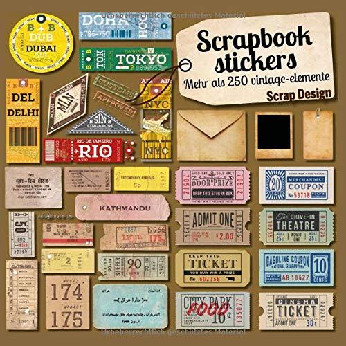 Scrapbook stickers mehr als 250 vintage-elemente