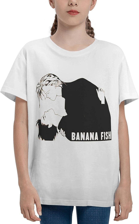 JarBruan Unisex Kid Manga Design Tee for Big Boy Girls Anime Cotton T-Shirts Child Cartoon Casual Clothing School White