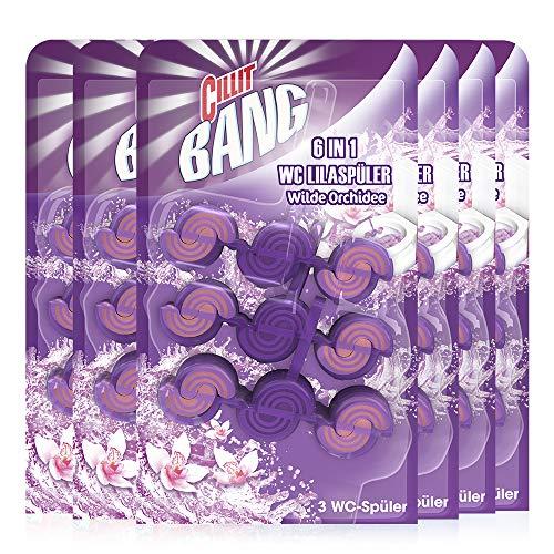 Cillit Bang Color Power 6 WC Lilaspüler Megapack Trio, WC-Spüler, 6er Pack