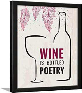 Chaka Chaundh – Bar quotes frame - Wine quotes frame - Bar poster for wall with frame, Quotes on wine - Bar photo frames (...