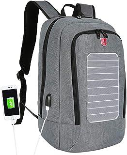 LICHUXIN Mochila Solar, Multifuncional al Aire Libre Cargador Solar Mochila, Impermeable Mochila de Viaje, Puede Cargar los teléfonos móviles