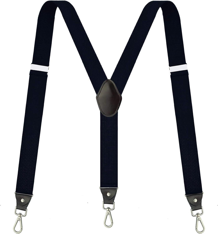 Suspenders for Men,Fowateda Adjustable Suspenders with Elastic Straps Y-Back Construction Heavy Duty for Work
