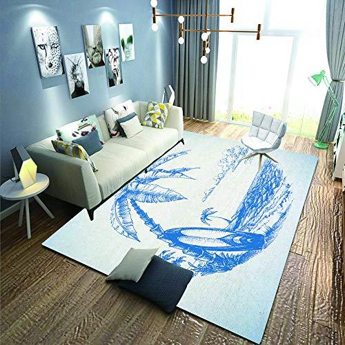 not tapijten, voetmatten, Europees aanzicht van Spaans straat met bloempotten, vloermat, antislip, vloermat, woonkamer tapijt, 90 x 120 cm