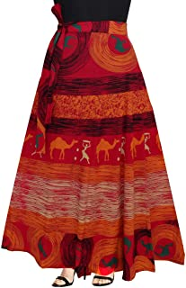Women's Cotton Printed Long 36 Inch Length Regular Wrap Around Skirt Colour (F_W36NT_0008)