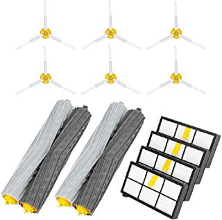 Amaae® Side Brush&Hepa Filters&Bristle Brush Replacement for i-Robot Roomba 900 960 980(Color:gray,Material:abs)