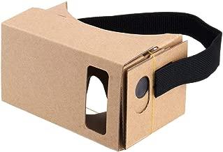 3Data Virtual Real Store Google Cardboard, Cuffie 3D VR Fai da Te per Realtà virtuale con Lenti ottiche Trasparenti e Comodo Cinturino per Tutti Gli Smartphone da 4 a 6 Pollici