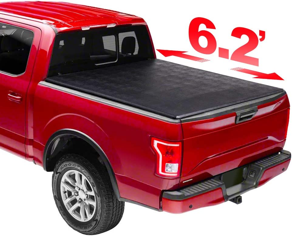 Uncle Johnny 6.2' Max 49% OFF Soft Trifold Bed Cover Tonneau Our shop most popular Compatiab Truck