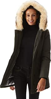 Women's Down Jacket Warm Parka Down Coat with Fur Hood Puffer Jacket
