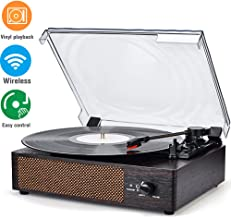 Turntable Record Player Wireless Portable LP Built in Stereo Speakers Belt-Drive 3-Speed Turntable Vintage Style Vinyl Record Player