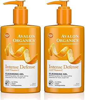Avalon Organics Intense Defense Cleansing Gel, 8.5 Ounce (Pack of 2)