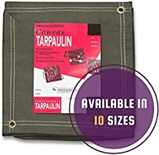 CCS Chicago Canvas & Supply Olive Drab Canvas Tarpaulin - Water and Mildew Resistant (8 feet x 10 feet)
