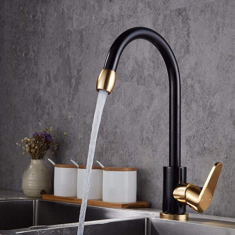WZF Küchenarmatur Kitchen Space Wash Schwarzer Wasserhahn Heie und kalte Gemüsebecken Wasserhahn Wasserhahn B.