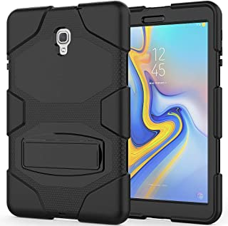 Angelan Samsung Galaxy Tab A 10.5 2018 Case, Heavy Duty Three Layer Ultra Hybrid Silicone+Hard PC Bumper Full-Body Protective Case Cover with Kickstand for Galaxy Tab A 10.5 Inch SM-T590/T595,Black