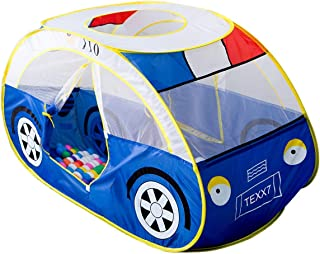 Anyshock Kids Tent, Kiddy Play Foldable Pop Up Police Car Tent Indoor Outdoor Toys Playhouse for Children Toddler 1-6 Year Old Gift for Boys Girls Baby (No Balls)