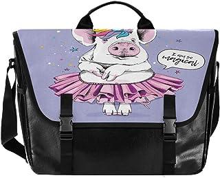 Bolso de lona con diseño de unicornio para hombre y mujer, estilo retro, ideal para iPad, Kindle, Samsung