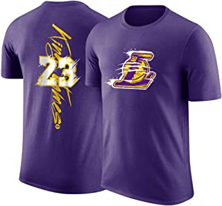 HS-Zak Miller LAL Mcgee # 7 Ropa De Baloncesto Hombres Camiseta De Deporte Entrenamiento Deportivo Cuello De Equipo De La Camiseta Floja Unisexo Chaleco Manga Corta Camiseta Saco