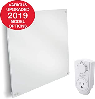 EconoHome Wall Mount Space Heater Panel - with Thermostat - 400 Watt Convection Heater - Ideal for 120 Sq Ft Room - 120V Electric Heater - Save Up to 50% of Heating Cost - Triple Reinforced