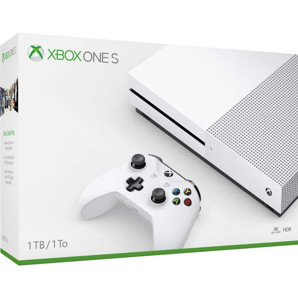 Newest Flagship Microsoft Xbox One S 1TB HDD Bundle with Two (2X) Wireless Controllers, 1-Month Game Pass Trial, 14-Day Xbox...