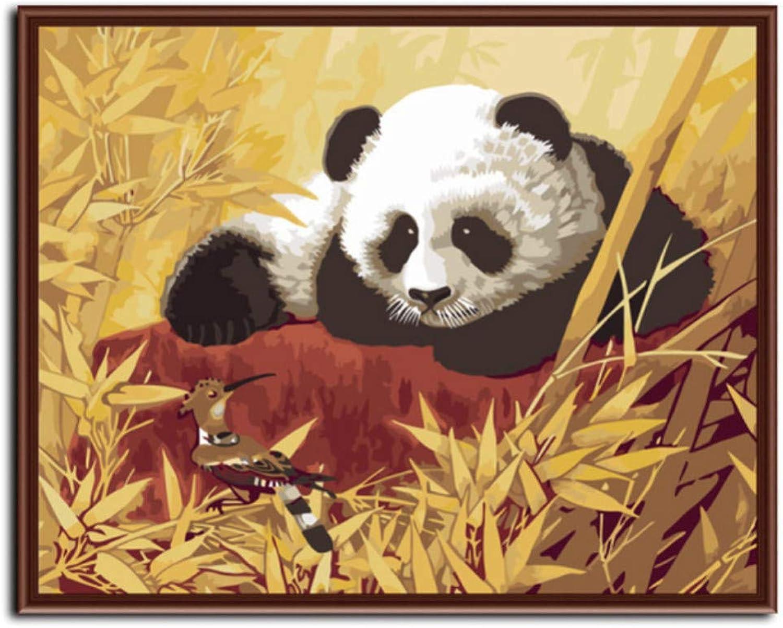 WFYY Malen Nach Zahlen Erwachsene Panda Und Und Und Elster Abstrakte Puzzle Spiel Spielzeug Geschenke Artwork Für Kinder 16X20 Inch Holzrahmen B07PMSVK4Z   eine große Vielfalt  bd1457