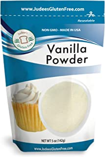 Judee's Premium Vanilla Powder (5 Oz) Non-GMO - Made in the USA - Add Vanilla Flavor to your recipes, coffee, yogurt, smoo...