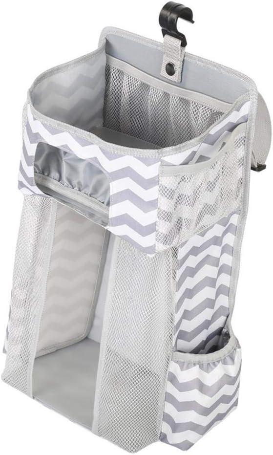 Grau Aufbewahrungstasche Baby Kindergarten Veranstalter HomeDecTime Multifunktionale Nachttischtasche zum Aufh/ängen Tragbare h/ängende Windel Veranstalter 44,6 x 23 x 16 cm