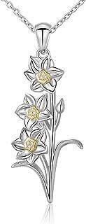 daffodil necklace pendant