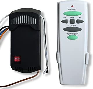 Universal Ceiling Fan Remote Control Kit with UP Down Light Control Key Replacement of Hampton Bay UC7078T Harbor Breeze Hunter, HD6/28R, Easy to Install