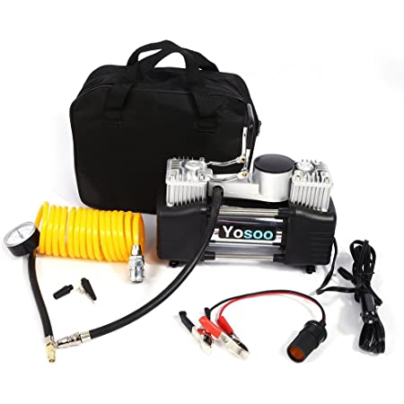 Yosoo Mini Reifen Pumpe Kompressor 150 Psi Tragbar Elektrisch Kompressor Auto Motorrad Fahrrad Luftpumpe Mit Messgerät Dc 12 V Baumarkt
