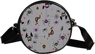 Coosun Umhängetasche mit Fledermaus-Muster, rund, Schultertasche für Kinder und Damen