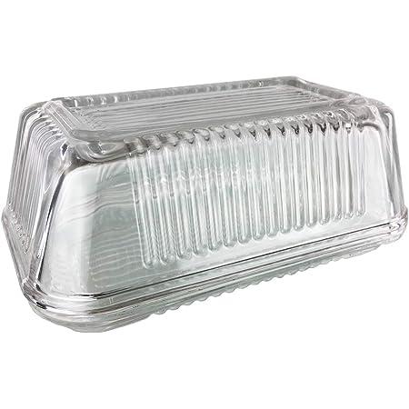 Design 1 Butterdose aus Glas mit Deckel