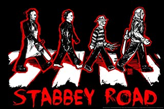 Stabbey Road by Big Chris Horror Movie Cool Wall Decor Art Print Poster 36x24