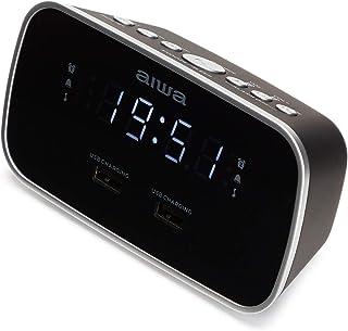 Aiwa CRU 19BK Radio Schwarz Radiowecker LED Display Dimmerfunktion