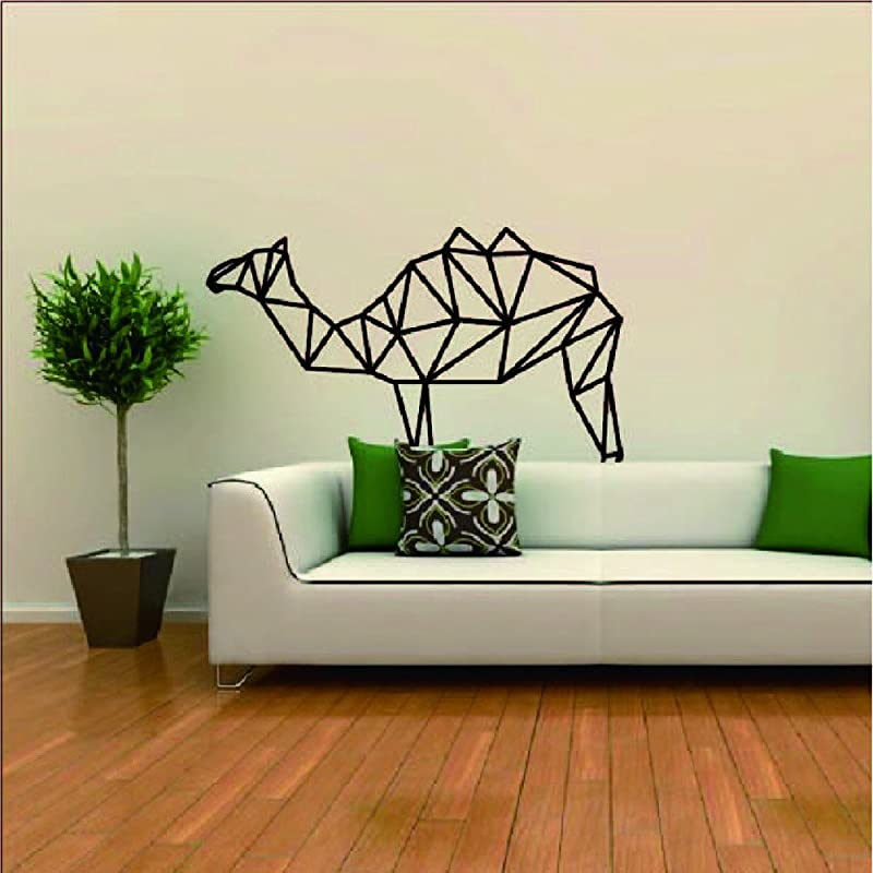 DIY Creative Room Decoration Removable Geometry Camel Wallpaper Wall Stickers Apply To Living Room Bedroom Bathrooms Kitchen Cabinets Windows Countertop Classroom Home For Kids Baby Girls A