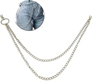 Fascigirl Pants Chain Fashion Dual Layer Metal Waist Chain Multipurpose Keychain