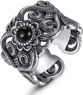 خاتم للرجال من الفضة الاسترلينية 990 من لوف كوم، خاتم مفتوح من الفضة التايلاندية، مجوهرات فضية رائعة كهدية في حفلة اعياد ا...