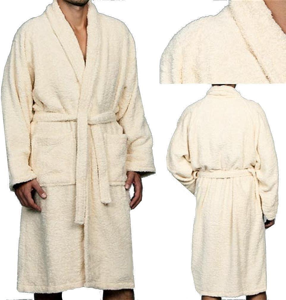 Marrikas Unisex Medium Egyptian Cotton Quality Cream Robe