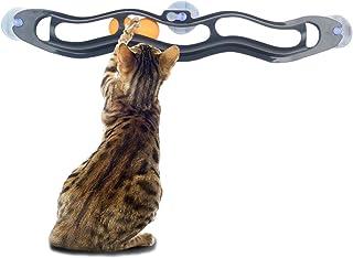 Amakunft Soporte interactivo para gatos y juguetes de bola para ventanas, diseño de gatos Super