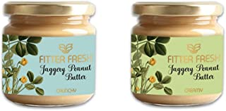 FITTER FRESH Creamy & Crunchy Peanut Butter with Organic Jaggery | With Ayurvedic Absorption Science to digest high Protei...