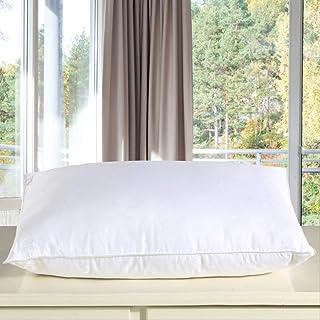 zhenxin Almohada Almohada de Seda de Mulberry Bordado Almohadas de Cuello 48 * 74cm Cinco Estrellas Hotel Almohada de Seda para la Salud del sueño